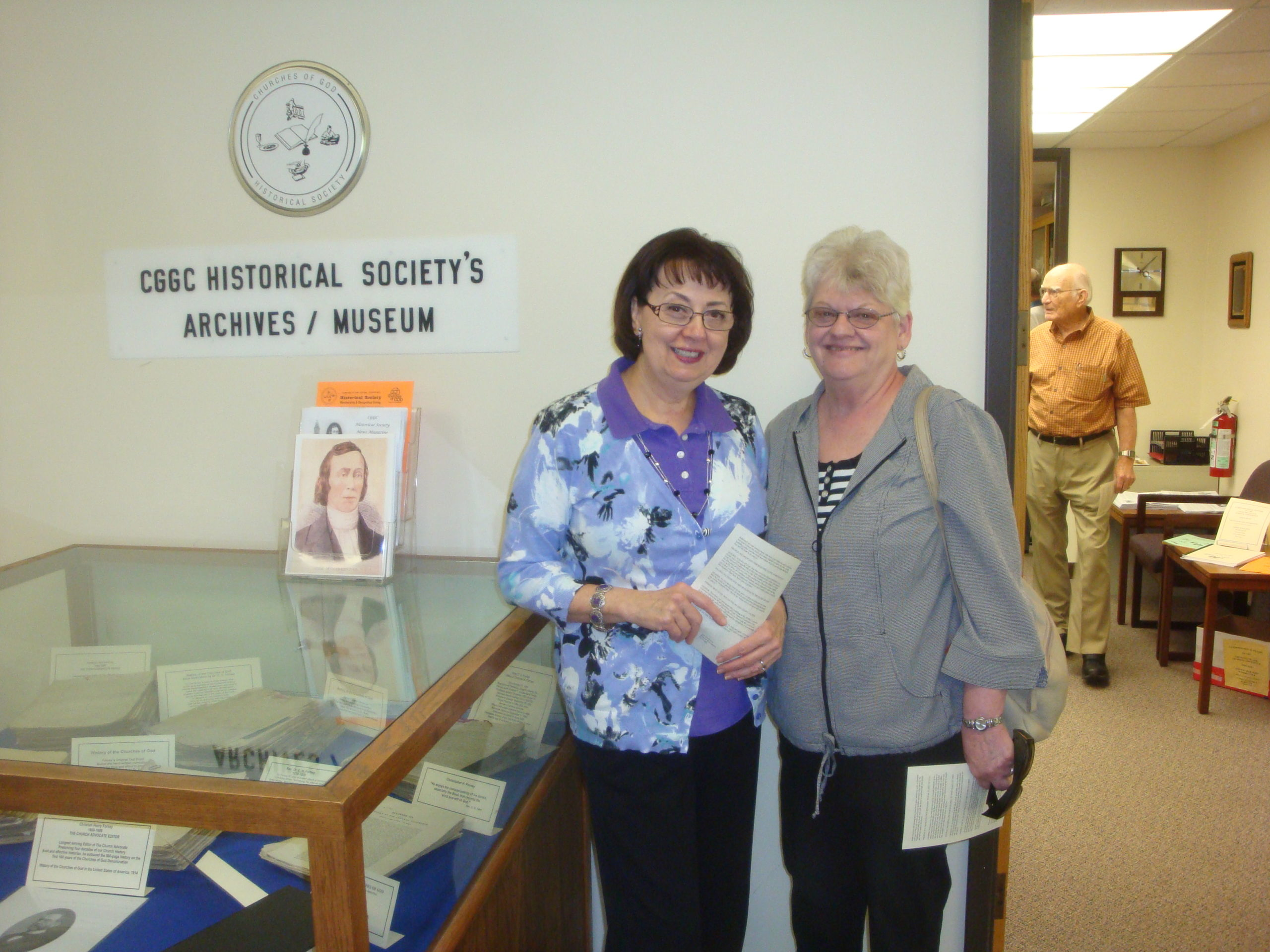 Donna marckel and Norma Trexler visit the Museum